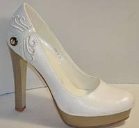 Эффектные женские туфли ЭМИЛИ white, р.35-40, фото 1