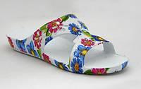 Шлёпки на лето! FLOWERS-big белые, р.36 (23см), фото 1