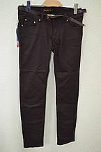 Джинсы женские -Темно-коричневые 508-4
