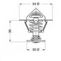 STA 24233.88 = OE 2120005D12 = GT TH12988G1 = VR 6319.88/J Термостат STAHLTER