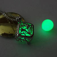 [ Кулон Куб светящийся ] Винтажный кулон на шею 500.0, Турция, Зеленый, Да