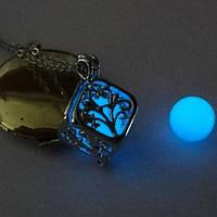 [ Кулон Куб светящийся ] Винтажный кулон на шею Кулон, 10, 500, Для женщин, Винтаж, Квадратная форма, 10, Голубой, да, 10