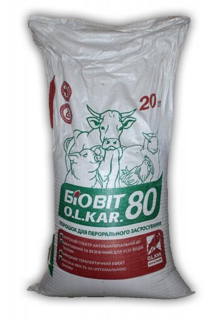 Биовит-80 мешок 20 кг на основе подсолнечнего шрота