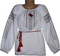 #вишиванка, жіноча вишивана блузка на домотканому полотні (Арт. 00452)