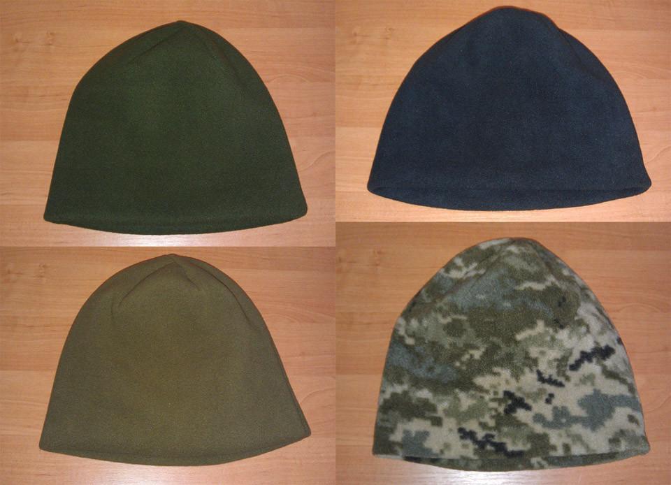 Очень тёплая зимняя флисовая шапка (плотность 340 гр/м2)