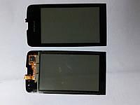 Сенсорное  стекло  Nokia Asha 311 черное high copy.