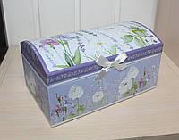 Красивая и милая шкатулка для украшений Лаванда. Подарки в стиле Прованс