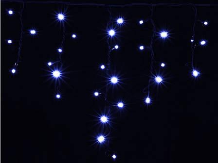 Гирлянда DELUX ICICLE 90LED 2x0.5 синяя/черный кабель, внешняя, фото 2
