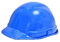Каска строителя синяя (Украина)
