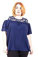 Блуза большого размера Мила (3цв), шифоновая блузка большого размера, для полных, дропшиппинг