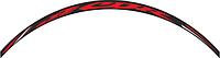Наклейка на обод колеса Print CBR черный/красный