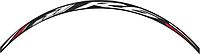 Наклейка на обод колеса Print R6 черный/белый