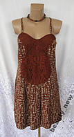 Новый стильный сарафан платье с кружевами NEXT полиэстер М 46 - 48