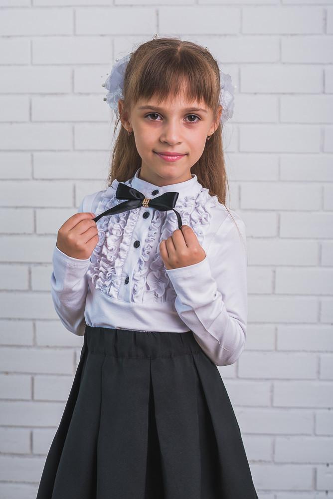 Блузка для девочки с бантиком