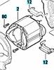 Статор до перфоратора Bosch GBH 2-28 DV