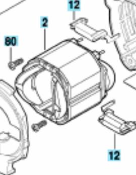 Статор до перфоратора Bosch GBH 2-28 DV, фото 2