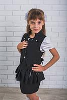Школьная форма для девочки юбка и жилет, фото 1