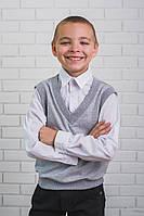 Рубашка+жилет обманка белая, фото 1