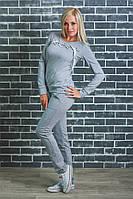 Костюм женский, спортивный, для дома (42-54р)  светло-серый, фото 1