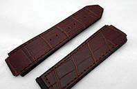 Ремешок к часам HUBLOT Geneve цвет коричневый, кожа и замша, фото 1