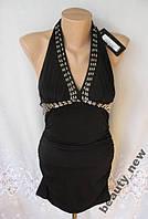 Новое стильное платье с декором  DJT полиэстер S 42-44 B254N