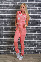 Костюм женский желетка+штаны(42-54р), персик