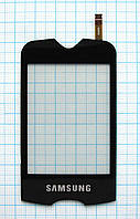 Тачскрин сенсорное стекло для Samsung S3370 Corby 3G black
