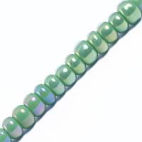 Бисер непрозрачный, радужный, зеленый, диаметр -1,9 мм(100 грамм)  УТ0028026