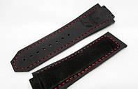 Ремешок к часам HUBLOT Geneve F1 цвет черный, каучук и замша, фото 1
