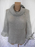 Новый теплый свитер MANGO акрил шерсть M 46-48 247N
