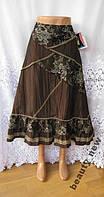 Новая стильная юбка с аппликациями и кружевами CUTE COLLECTION полиэстер M 46-48
