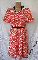 Новое стильное платье с поясом DOROTHY PERKINS полиэстер XL 52-54А185N