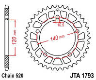 Звезда задняя легкосплавная JT JTA1793.47