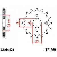 Звезда передняя JT JTF259.17