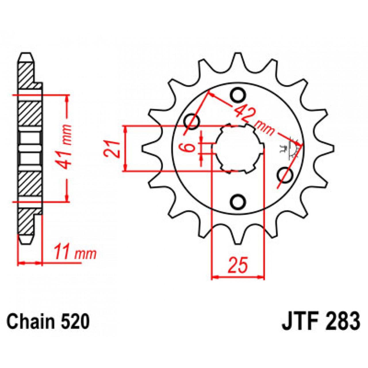 Звезда передняя JT JTF283.14