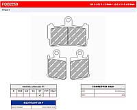 Тормозные колодки Ferodo FDB2259ST для мотоцикла HONDA
