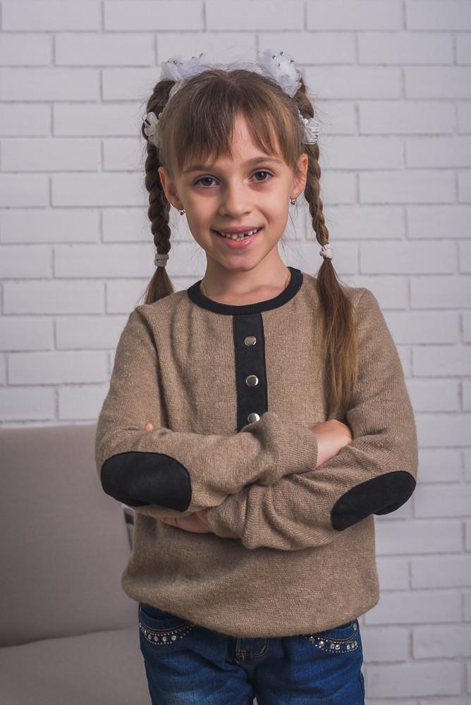 Кофта детская ангора бежевая, фото 1