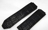 Ремінець до годинників HUBLOT Geneve колір чорний, шкіра і замша, фото 1