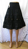 Новая юбка с декором PIAO YA хлопок М 46 - 48 A83N