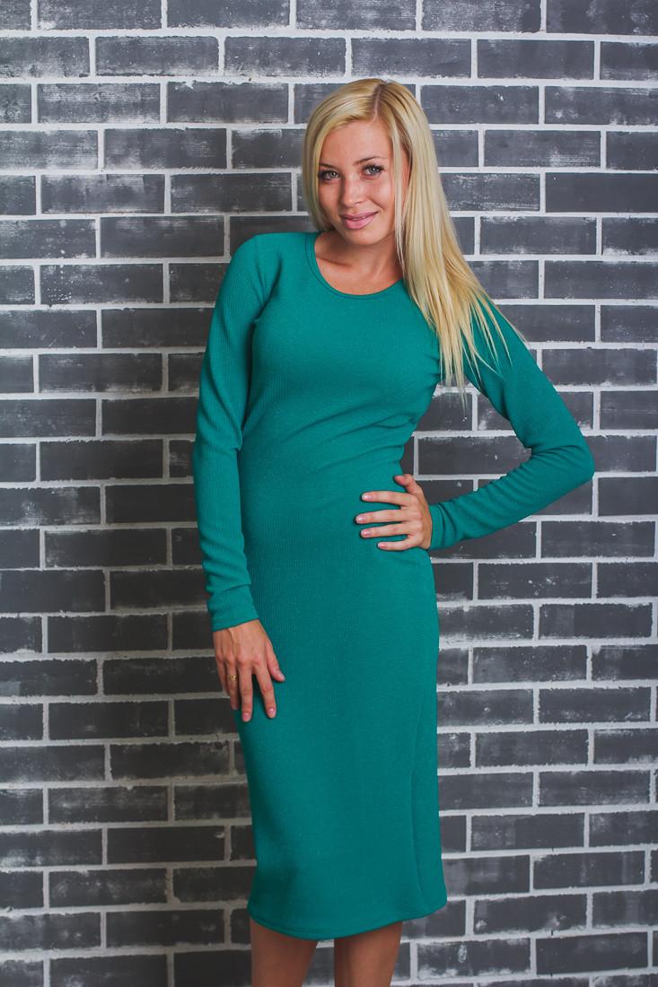 Платье женское футляр зеленое