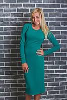 Платье женское футляр зеленое, фото 1