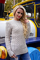 Теплая женская кофта вязка размер С М Л