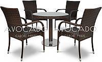 Комплект  POLINA / RAMINI   стол 80см +4 кресла