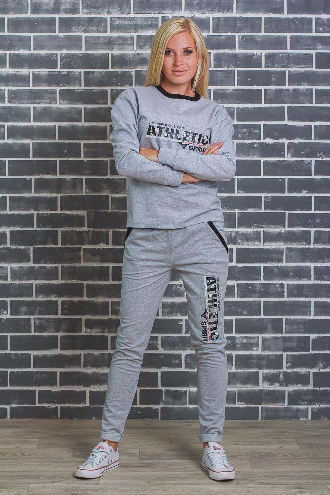 Женский спортивный  костюм (42-54 р)  светло-серый
