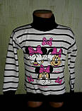Гольф детский с начесом для девочки  Минни маус, фото 3