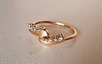 Золотое кольцо с камнями, золото 585