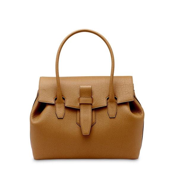 Кожаная женская сумка Charlie de Lancel с двойными ручками