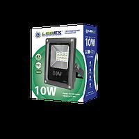 Светодиодный Прожектор LEDEX 10W Slim SMD 6500k Premium!