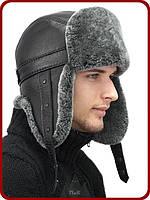 Стильная шапка ушанка мужская