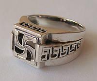 Кольцо-оберег Символ рода 3216Г, серебро 925 проба, чернение.